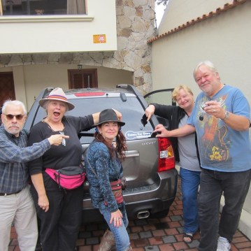 Some happy (and a little crazy) customers of Cuenca Car Share.