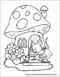Dibujo para colorear cuentos La Ratita Presumida