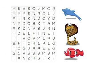 SOPA LETRAS DE ANIMALES