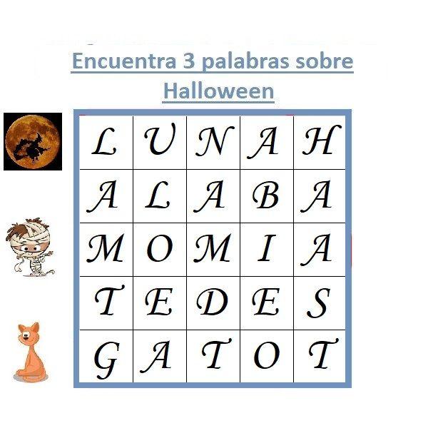 sopa de letras de Halloween
