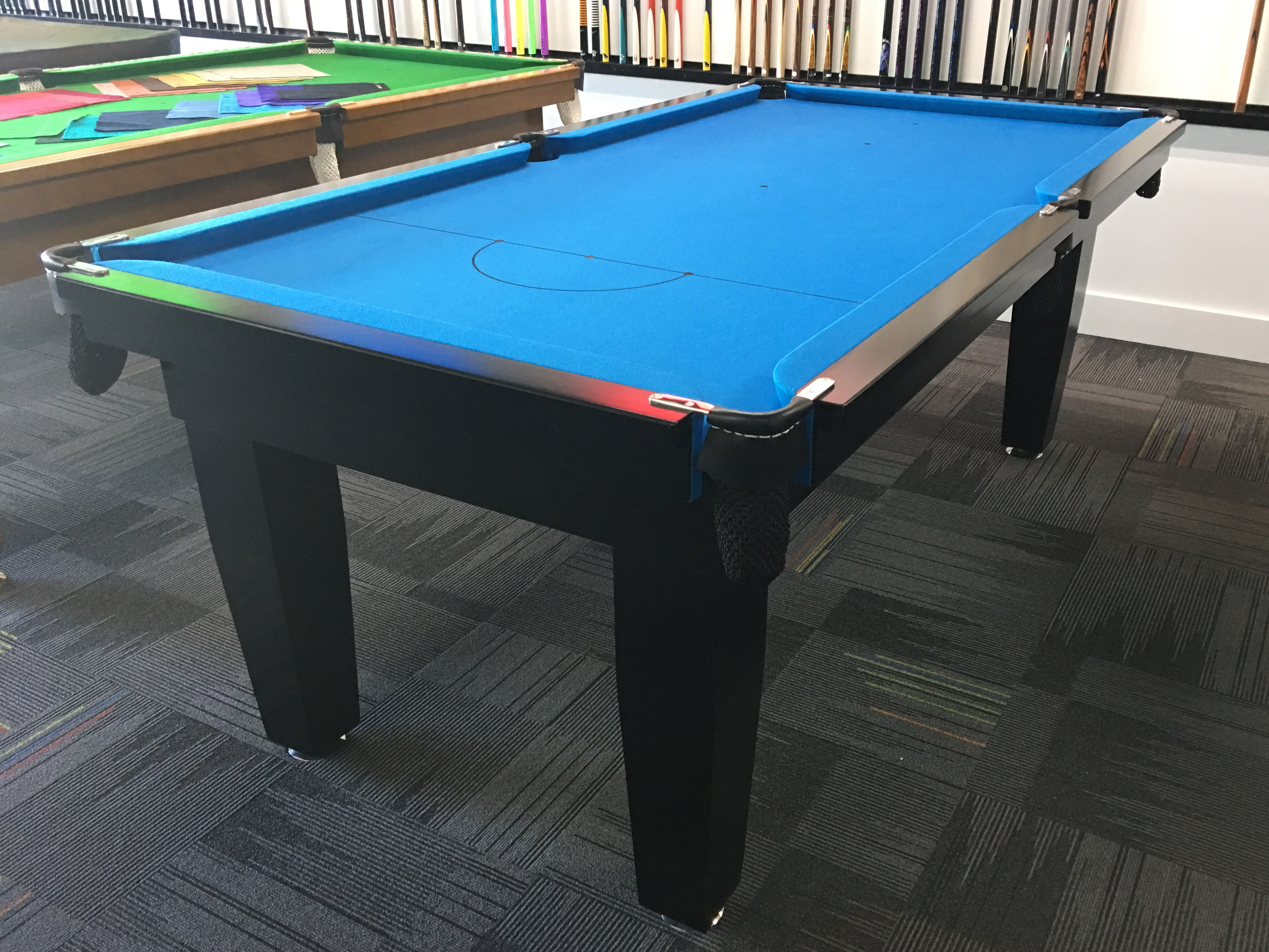 7ft Contemporary Club Pool Table Cue Power Billiards