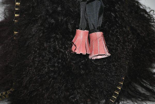 Borlon rosa empolvado de bolso saco