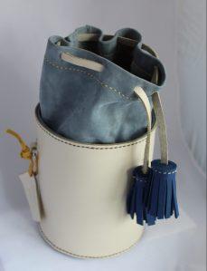 Bolso en piel hecho a mano saco s-8