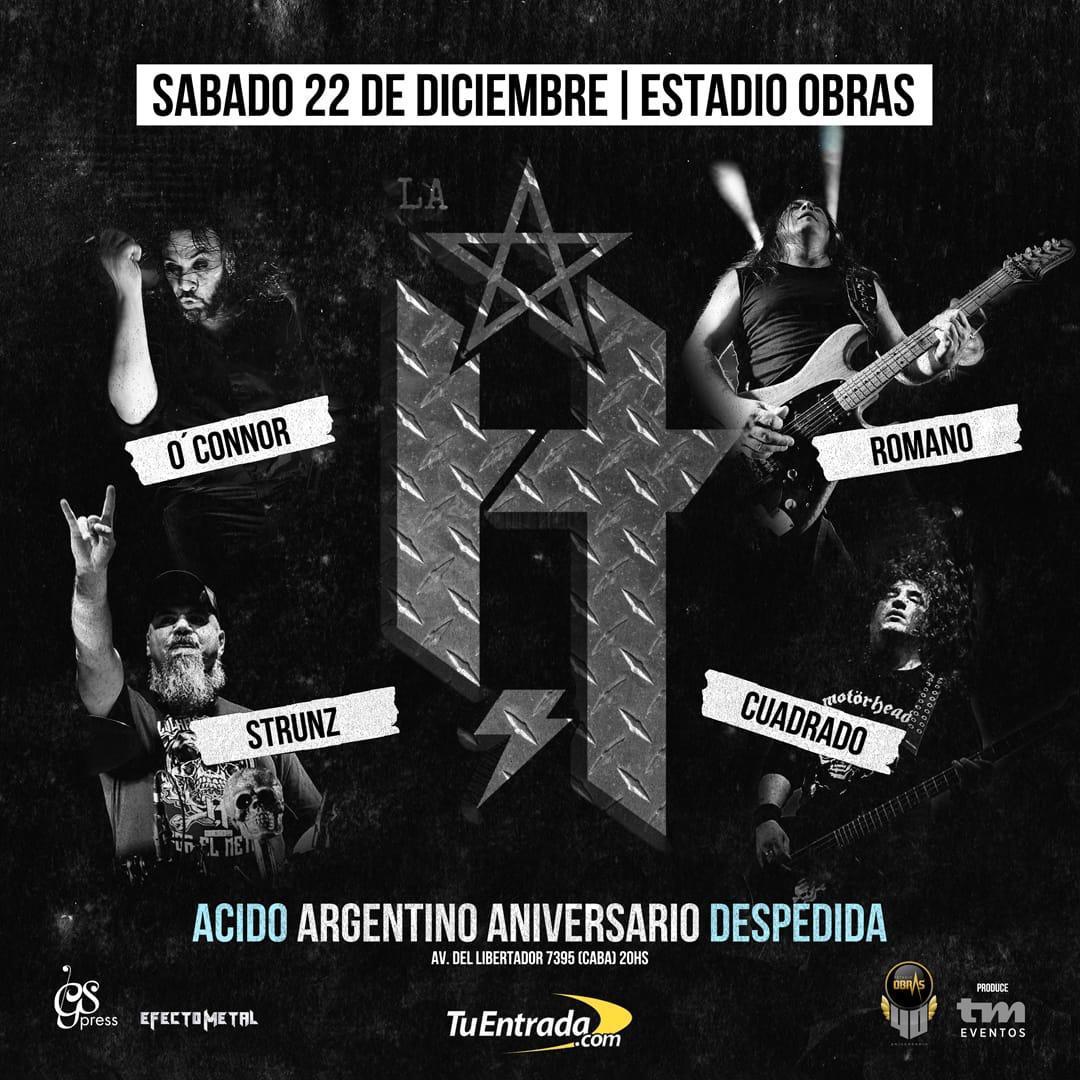 ÁCIDO ARGENTINO: DESPEDIDA EN OBRAS!