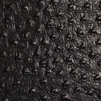 leather wrap black ostrich