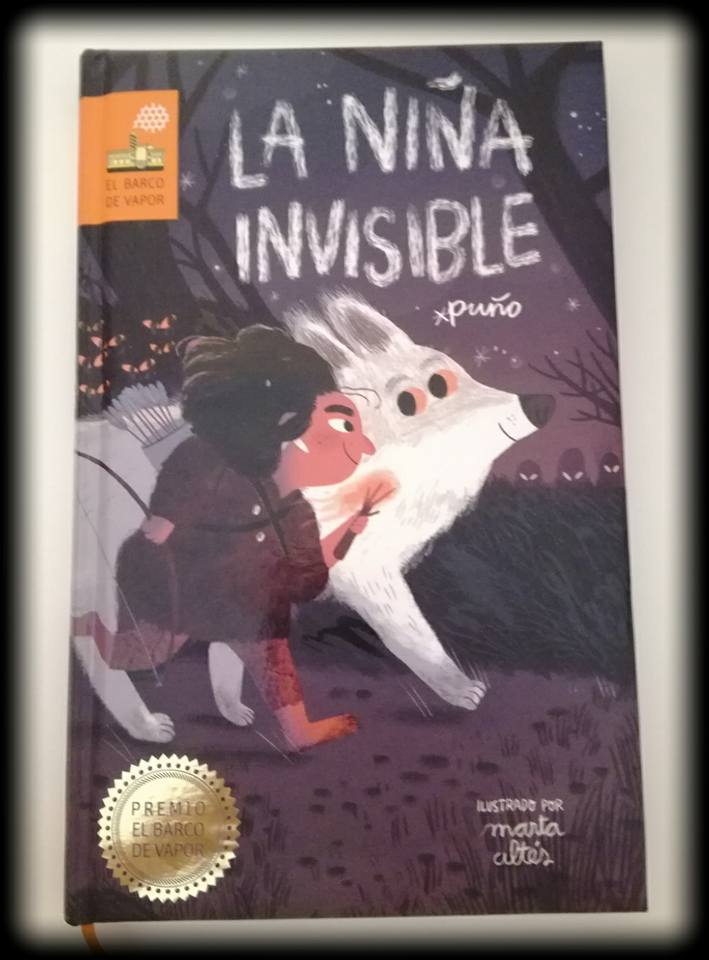 Portada de La niña invisible, premio Barco de Vapor 2018