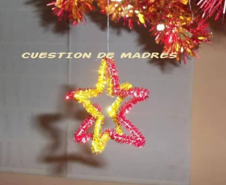 Adornos para el árbol de Navidad, una de las actividades para el calendario de Adviento