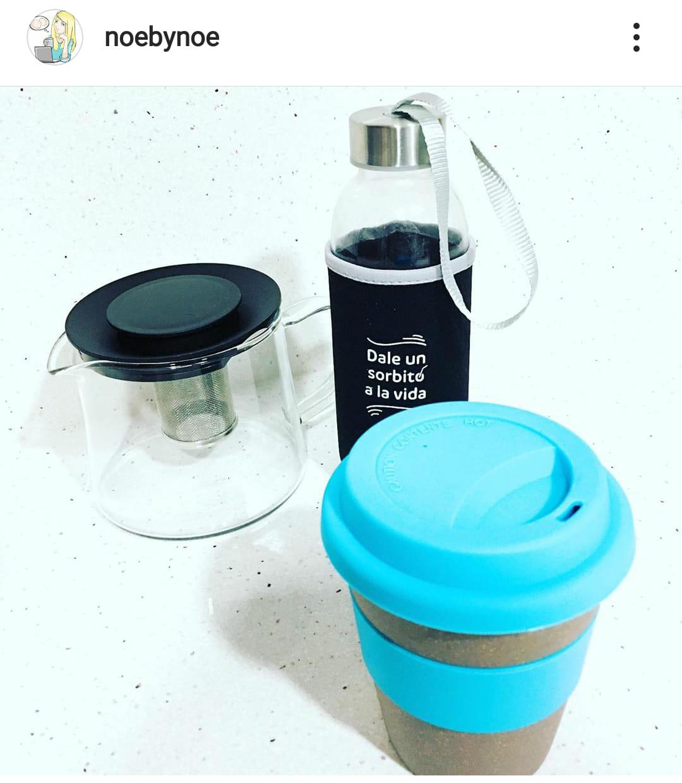 Foto subida al Instagram de Noe con sus cambios para dejar atrás los plásticos