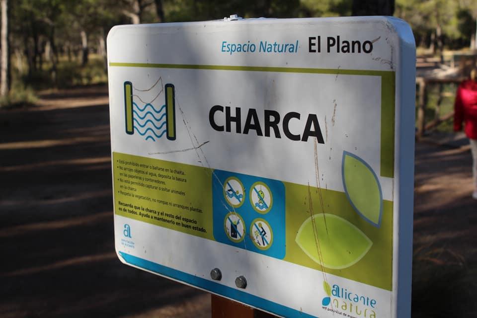 Cartel de La Charca de El Plano