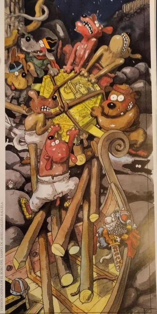 Una de las versiones caninas de las ilustraciones de Akseli Gallen-Kallela
