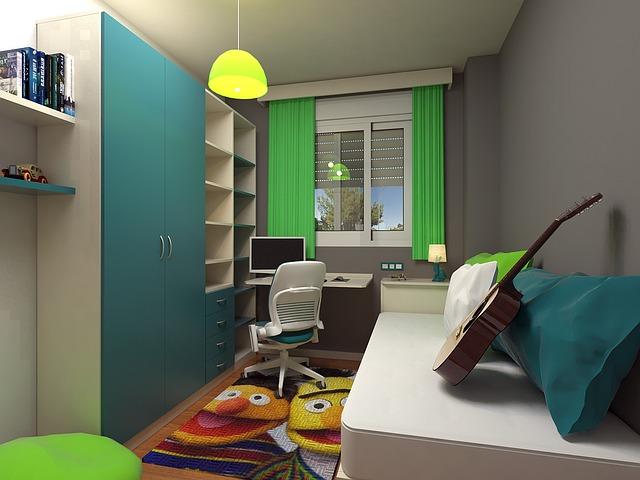 una habitación original donde se aprovecha al máximo el espacio