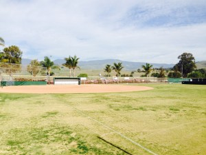 Cuesta's softball field on a sunny day off.