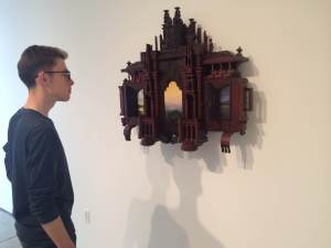 "Austin Dalley, a fourth semester student, observing ""After the Storm"""