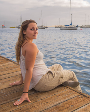 Anastasia Ruttschow on the docks of Morro Bay.