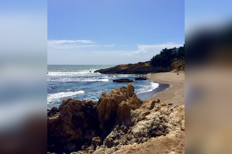 San Simeon State Beach is serene on a sunny day.