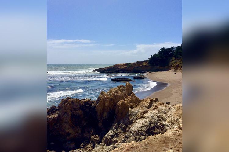 San Simeon State Beach is serene on a sunny day.