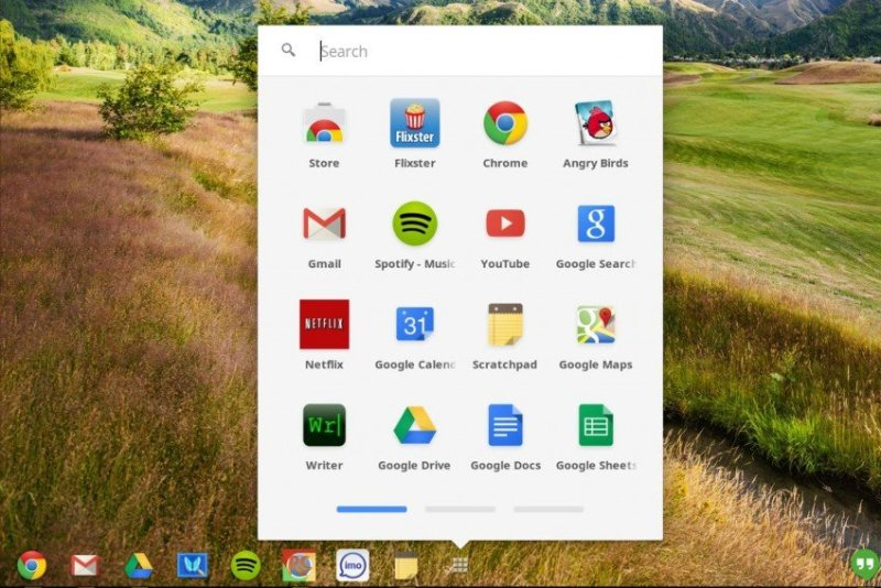 Chrome OS Screen
