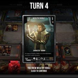 Obtengo al Wealthy Noble temprano en el juego, buena ventaja.