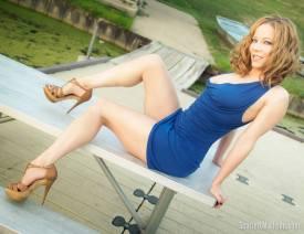 Scarlett Madison vestido corto azul