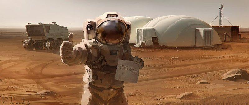 The Martian por Rhads