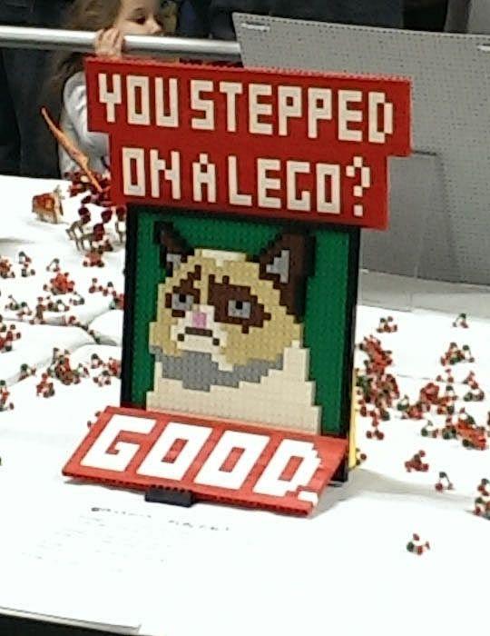 Pisaste un LEGO Bien