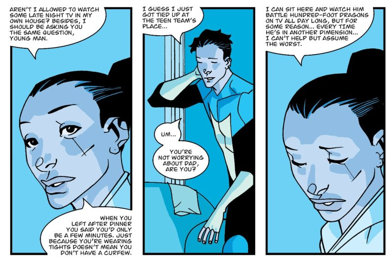 Invincible and Debbie Worry about Nolan