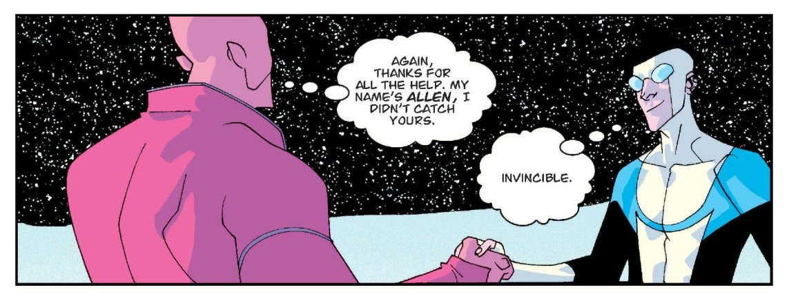 Invincible y Allen se despiden