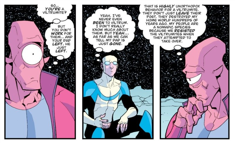 Invincible Allen y Mark Conversan