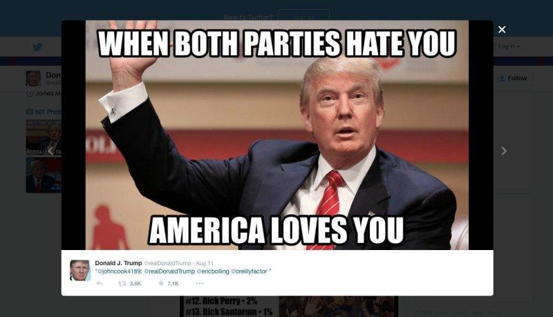 Donald Trump hate