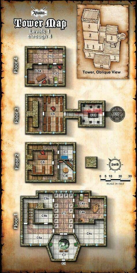 1000+ Mapas Gratis Mapa de la Torre