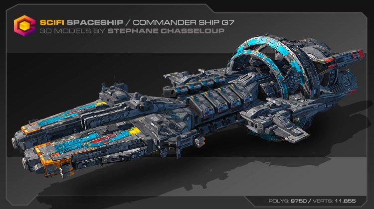 El diseño de una nave espacial real por Stephane Chasseloup