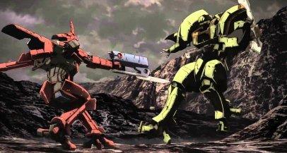 Break Blade Combate entre mechs