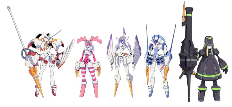 Darling in the FranXX FranXXs Mechas