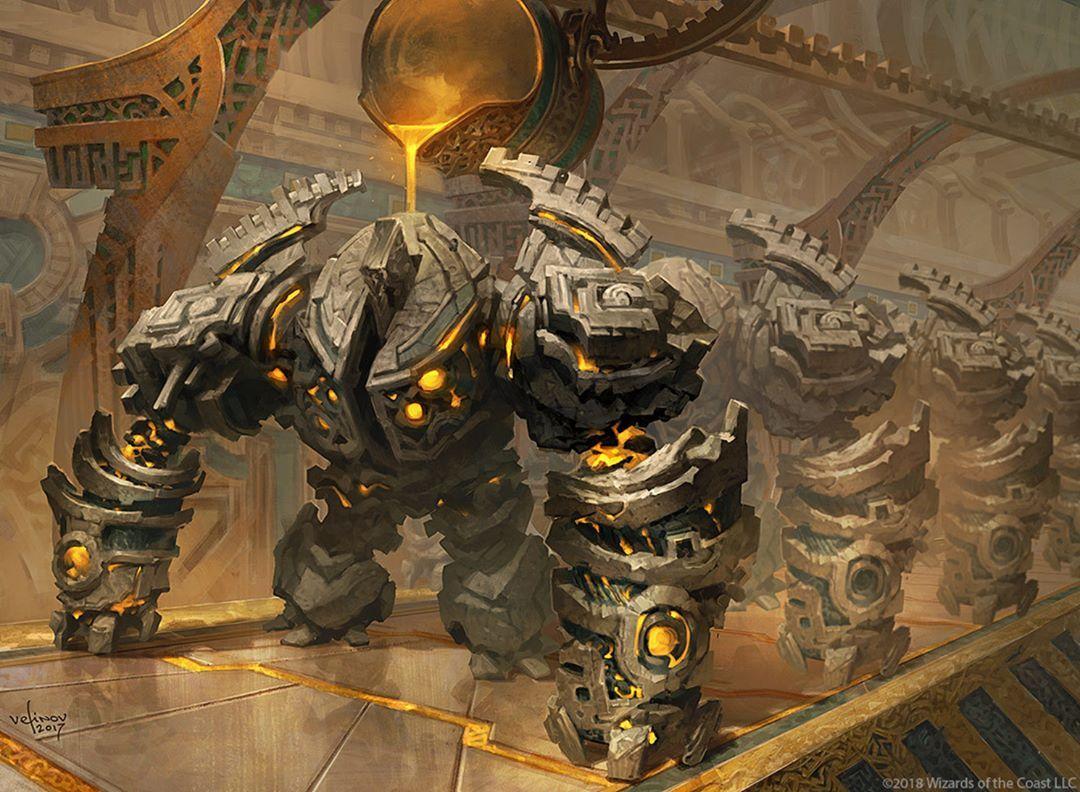 Golden Guardian MTG: RIVALS OF IXALAN por Svetlin Velinov