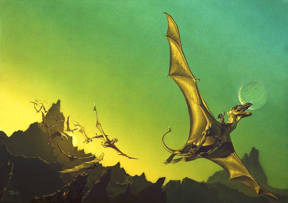 Dragonflight por Michael Whelan