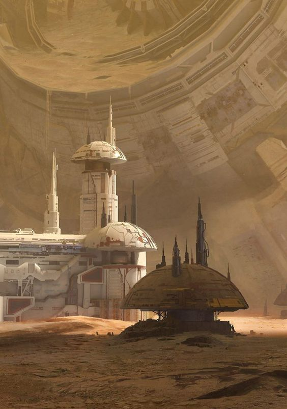 Aaron Limonick – desert structures on lizard homeworld