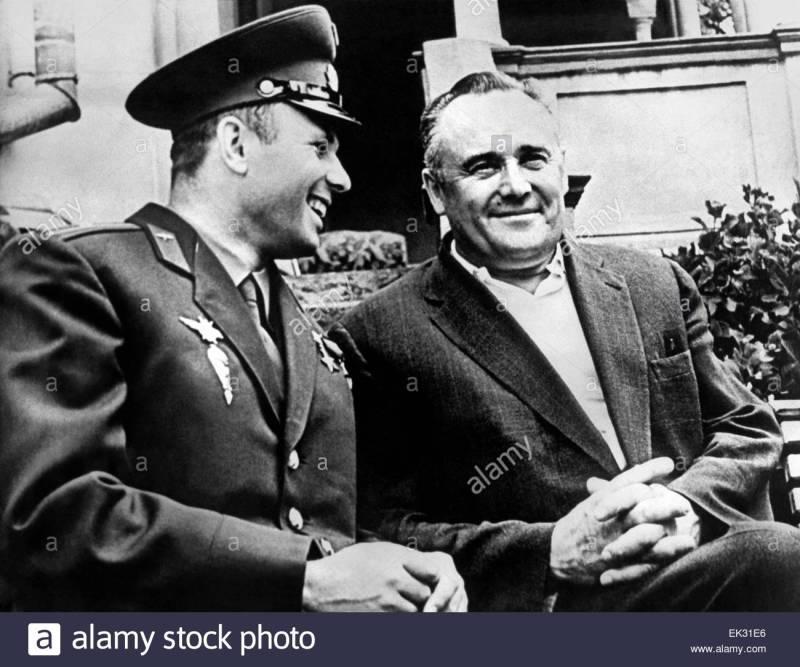 Gagarin e Korolev