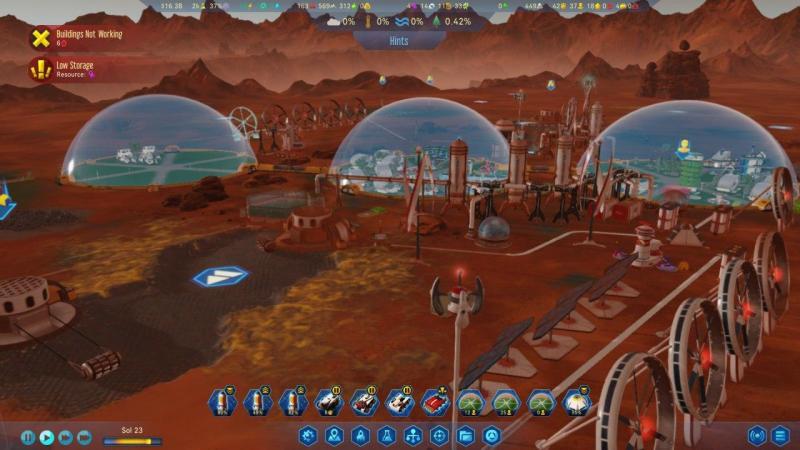 Surviving Mars Domos desde lejos