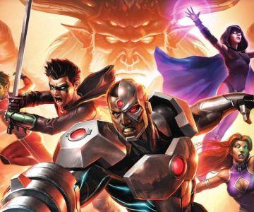 Justice League vs. Teen Titans Portada