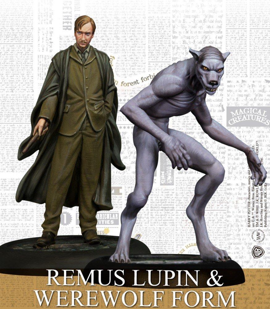 Remus Lupin con forma de hombre lobo en español