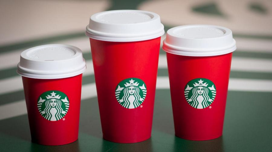 For the first time, this year there is no Merry Christmas on Starbuck's seasonal cups. Political correctness run amok?? Photo: abc13.com