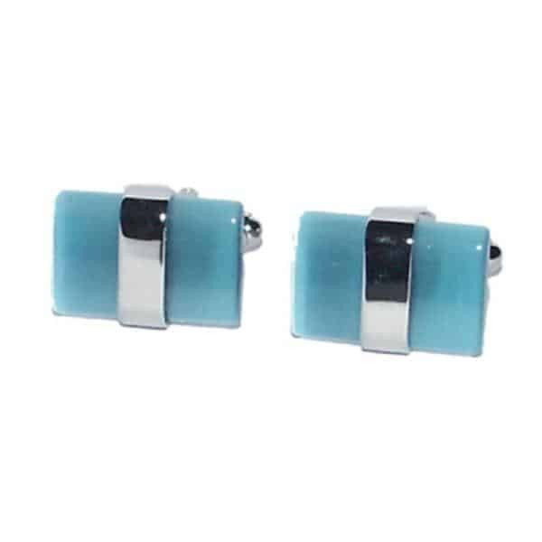 Blue Aquamarine Cufflinks