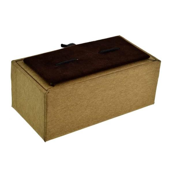 Brown paper cufflink box
