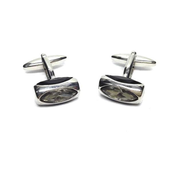 Black & White Glass Classic Cufflinks