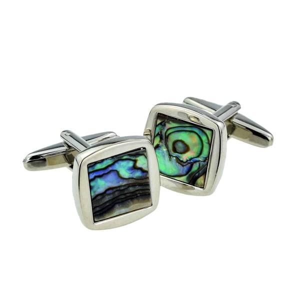 Abalone Shell Square Classic Cufflinks