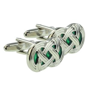 Celtic Green Design Cufflinks