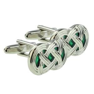 Celtic Green Design Cufflinks