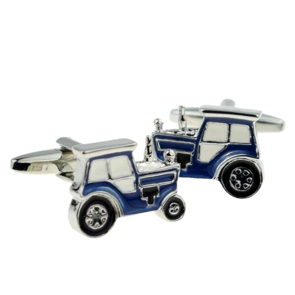 Blue Tractor Farm Cufflinks