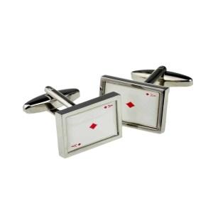 Ace of Diamonds cufflinks