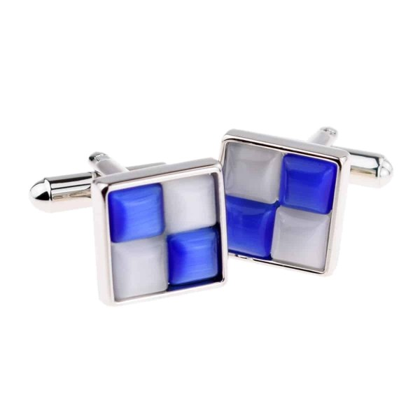Blue And White Square
